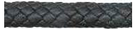 Nappa Oval Braided Leather Cord