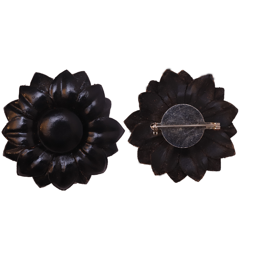 leather-broach